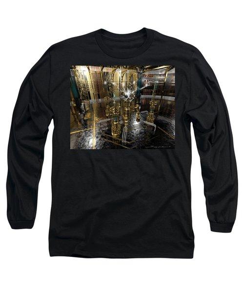 Tesla Power Generator Long Sleeve T-Shirt by James Christopher Hill