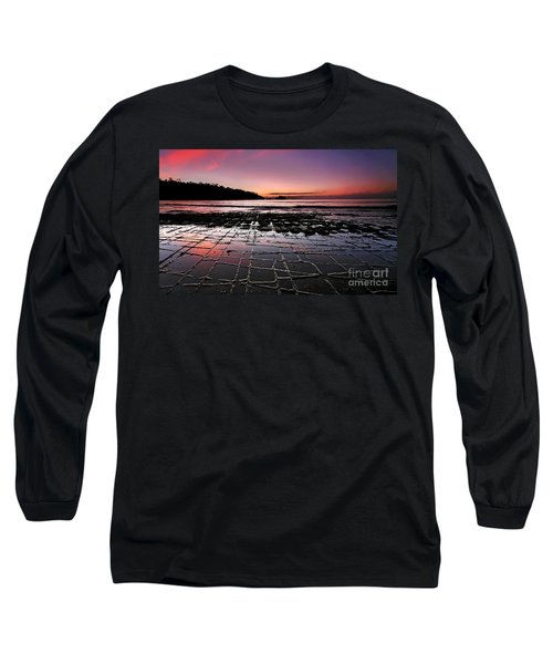 Long Sleeve T-Shirt featuring the photograph Tesselated Pavement Sunrise by Bill  Robinson