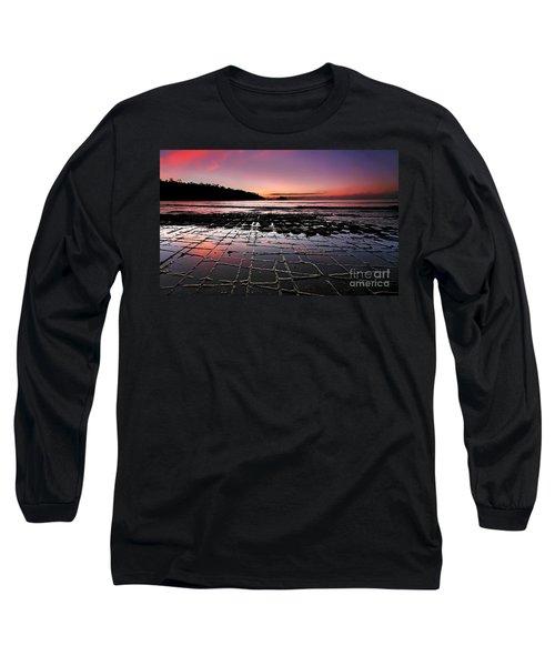 Tesselated Pavement Sunrise Long Sleeve T-Shirt