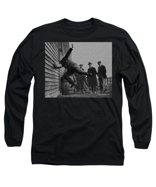Testing Football Helmets In 1912 Ouchhhhh Long Sleeve T-Shirt