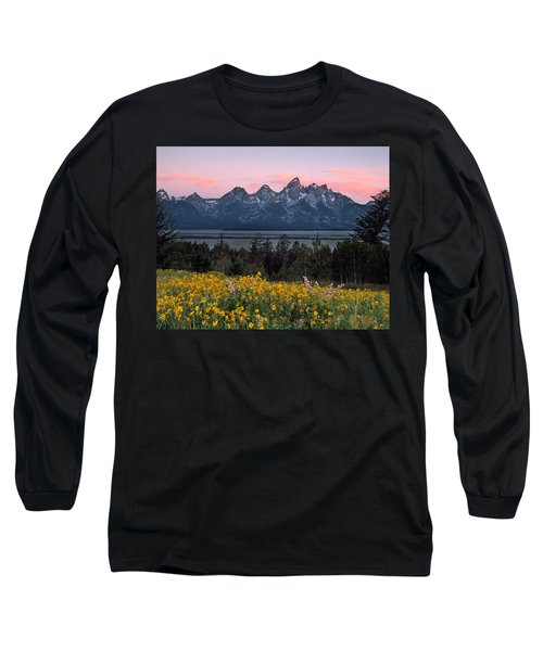 Teton Spring Long Sleeve T-Shirt by Leland D Howard