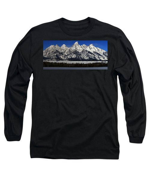 Tetons From Glacier View Overlook Long Sleeve T-Shirt