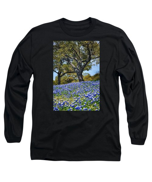 Texas Bluebonnet Hill Long Sleeve T-Shirt