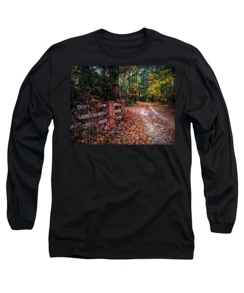 Texas Piney Woods Long Sleeve T-Shirt by Linda Unger