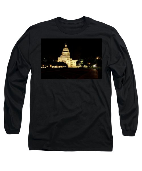 Long Sleeve T-Shirt featuring the photograph Texas State Capitol by Dave Files
