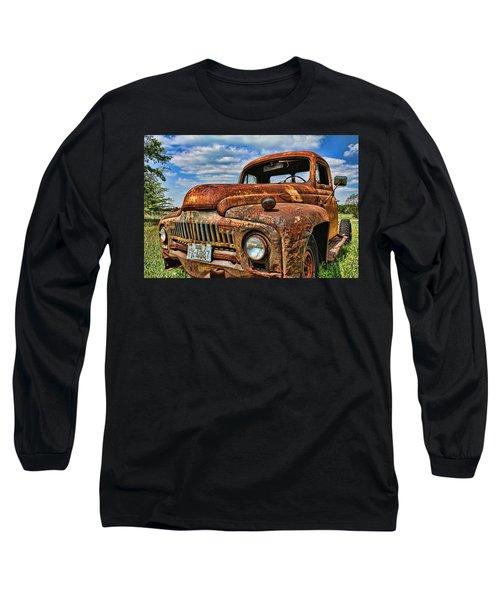 Long Sleeve T-Shirt featuring the photograph Texas Truck by Daniel Sheldon
