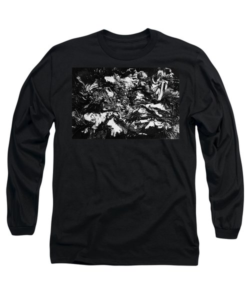 Textured Black And White Series 1 Long Sleeve T-Shirt