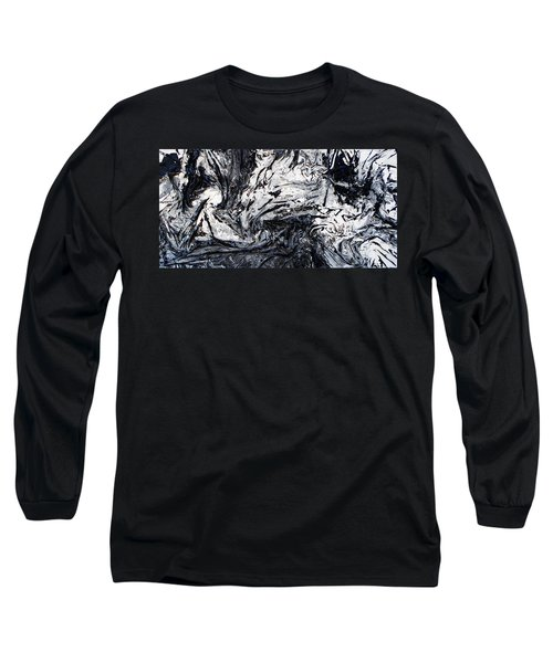 Textured Black And White Series 2 Long Sleeve T-Shirt
