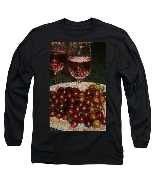 Textured Grapes Long Sleeve T-Shirt