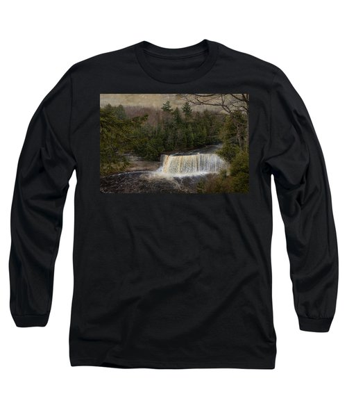 Textured Tahquamenon River Michigan Long Sleeve T-Shirt