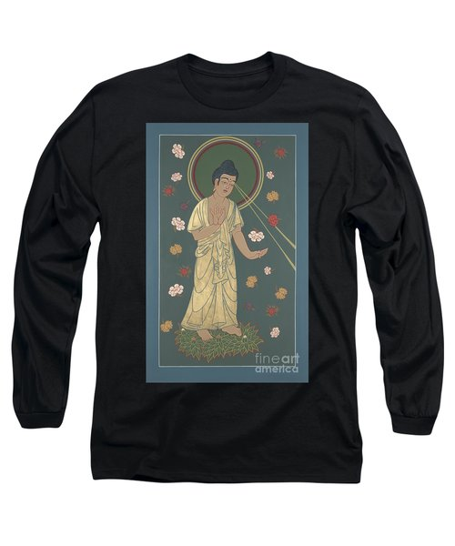 The Amitabha Buddha Descending 247 Long Sleeve T-Shirt by William Hart McNichols