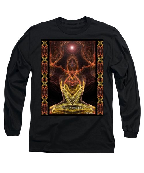 The Angel Of Meditation Long Sleeve T-Shirt