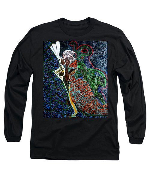 Long Sleeve T-Shirt featuring the painting The Annunciation by Gloria Ssali