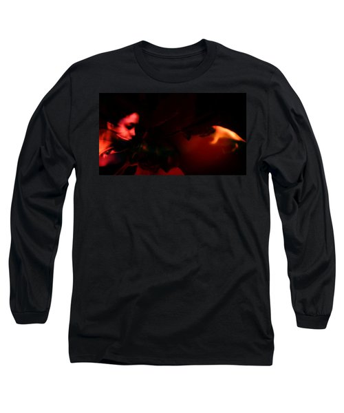 Long Sleeve T-Shirt featuring the photograph The Architect Of Red  by Jessica Shelton