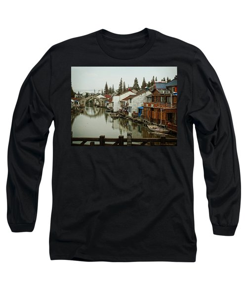 Long Sleeve T-Shirt featuring the photograph The Asian Venice  by Lucinda Walter