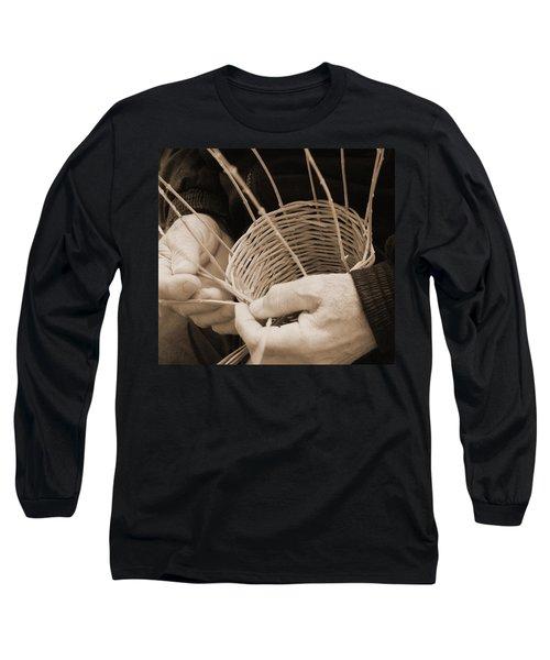 The Basket Weaver Long Sleeve T-Shirt by Marcia Socolik