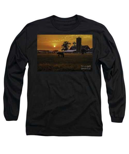 The Beauty Of A Rural Sunset Long Sleeve T-Shirt