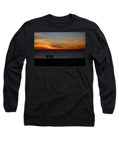 Long Sleeve T-Shirt featuring the photograph The Bench by Faith Williams