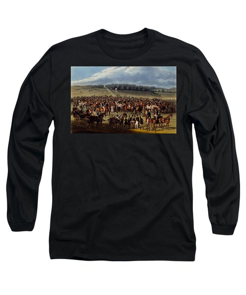 The Betting Post, Print Made By Charles Long Sleeve T-Shirt