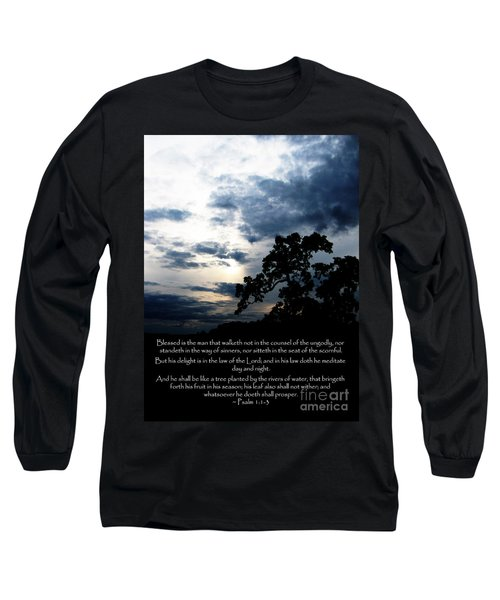 The Bible Psalm 1 Long Sleeve T-Shirt