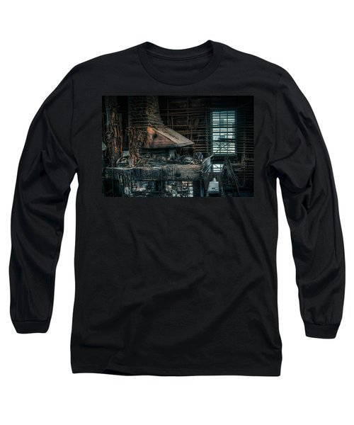 Long Sleeve T-Shirt featuring the photograph The Blacksmith's Forge - Industrial by Gary Heller