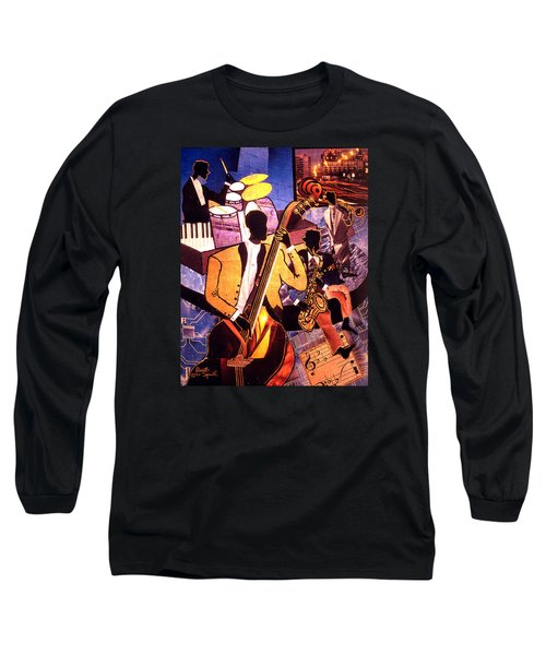 The Blues People Long Sleeve T-Shirt by Everett Spruill