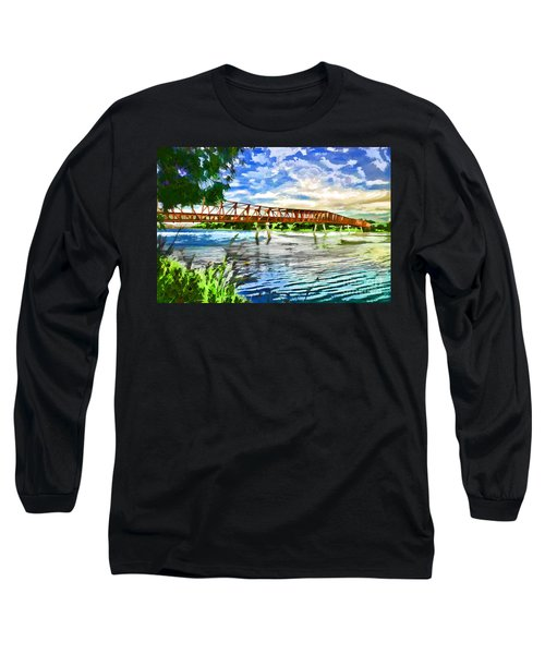 Long Sleeve T-Shirt featuring the photograph The Bridge by Yew Kwang