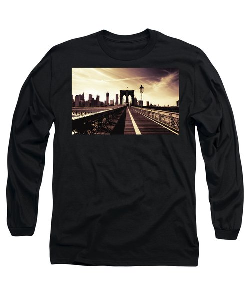 The Brooklyn Bridge - New York City Long Sleeve T-Shirt