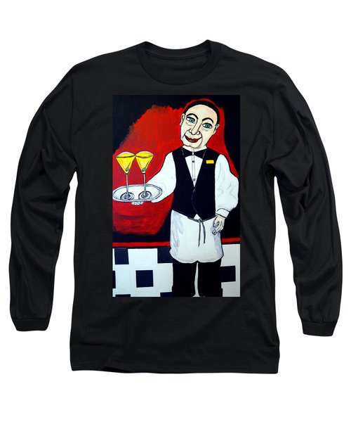 Long Sleeve T-Shirt featuring the painting The Butler  by Nora Shepley