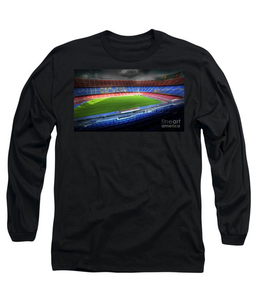 The Camp Nou Stadium In Barcelona Long Sleeve T-Shirt