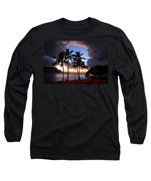 The Center Of The Storm Long Sleeve T-Shirt by Lynn Bauer
