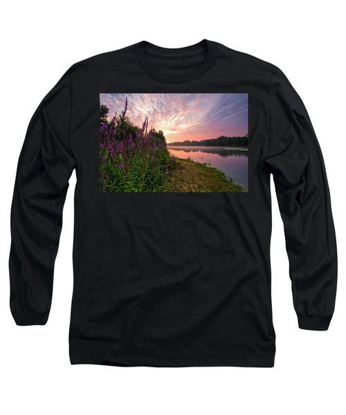 The Color Purple Long Sleeve T-Shirt by Davorin Mance