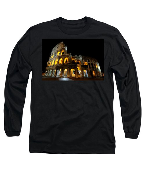 The Colosseum At Night Long Sleeve T-Shirt