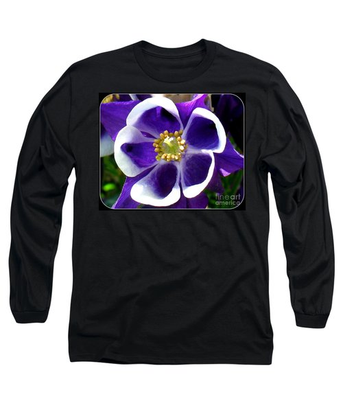 Long Sleeve T-Shirt featuring the photograph The Columbine Flower by Patti Whitten
