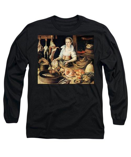 The Cook Long Sleeve T-Shirt by Pieter Cornelisz van Rijck