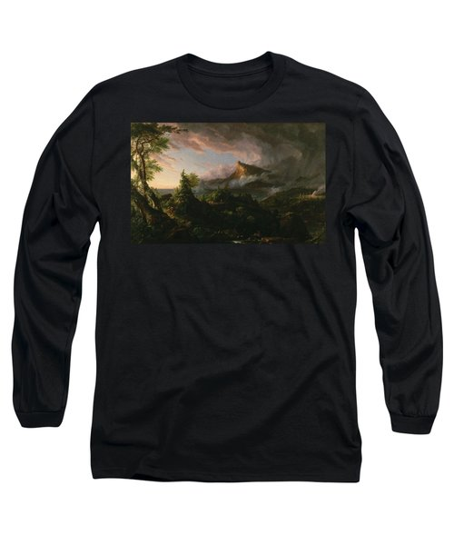 The Course Of Empire The Savage State  Long Sleeve T-Shirt