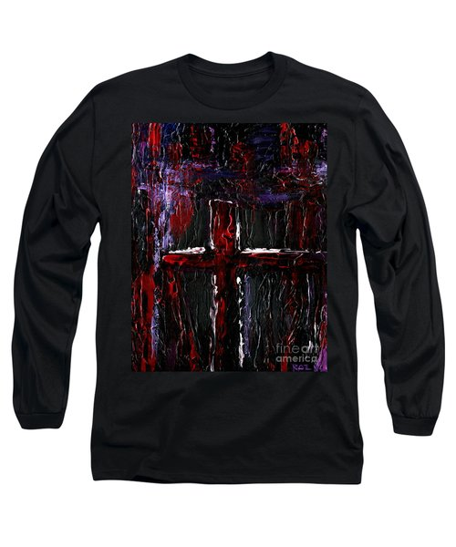 Long Sleeve T-Shirt featuring the painting The Crossroads #1 by Roz Abellera Art