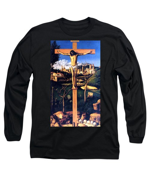 Long Sleeve T-Shirt featuring the painting The Crucifixion 1503 Giovanni Bellini by Karon Melillo DeVega