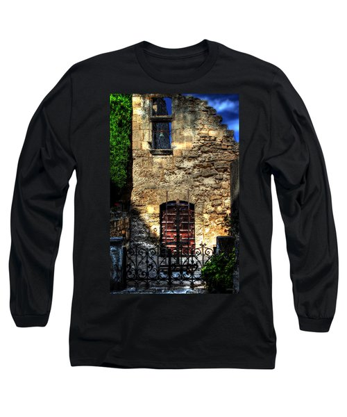 Long Sleeve T-Shirt featuring the photograph The Cypress And The Bell France by Tom Prendergast