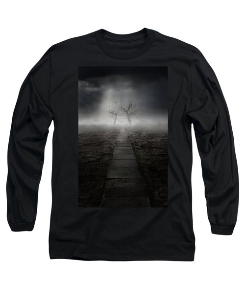 Long Sleeve T-Shirt featuring the photograph The Dark Land by Jaroslaw Blaminsky