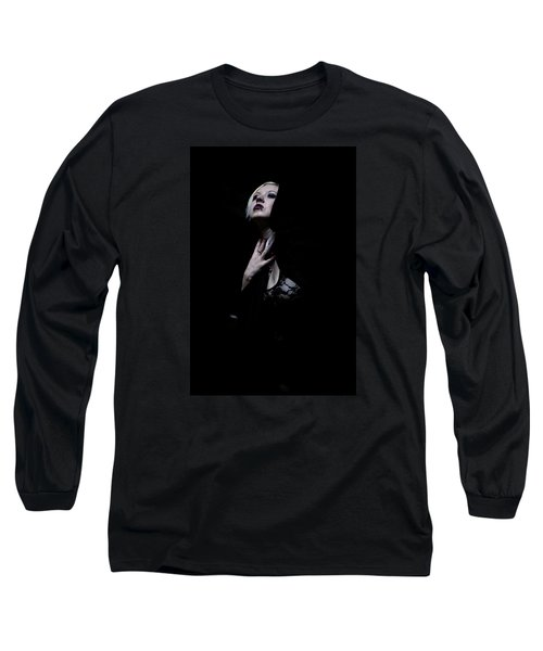 Long Sleeve T-Shirt featuring the photograph The Dark Witch by Mez