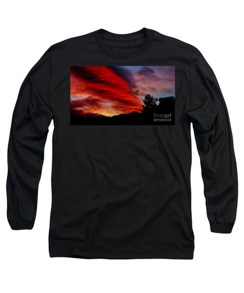 The Day Is Done Long Sleeve T-Shirt by Angela J Wright