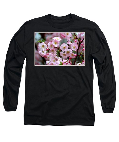 Long Sleeve T-Shirt featuring the photograph The Delicate Cherry Blossoms by Patti Whitten