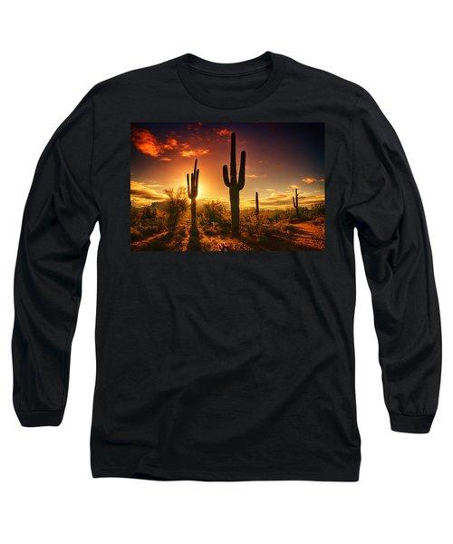 The Desert Awakens  Long Sleeve T-Shirt by Saija  Lehtonen