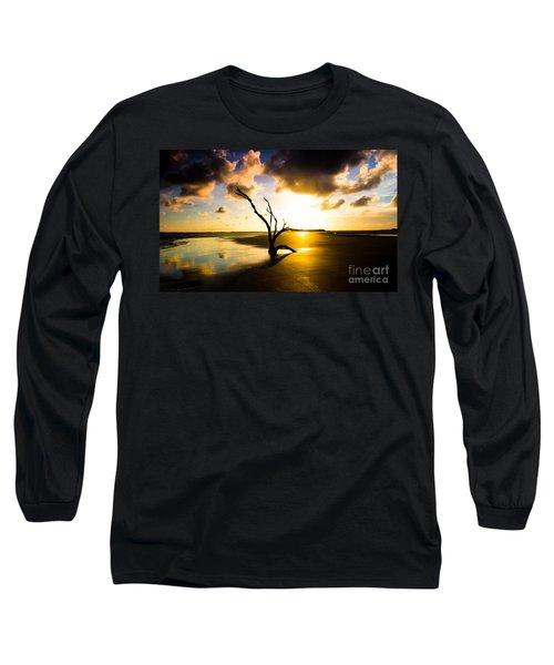 The Driftwood Tree Folly Beach Long Sleeve T-Shirt