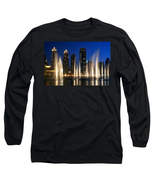 The Dubai Fountains Long Sleeve T-Shirt