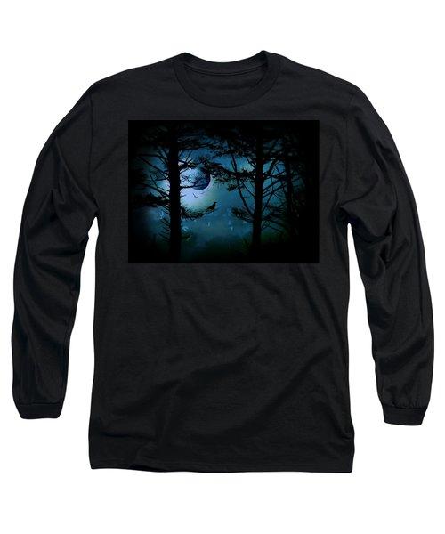 The Edge Of Twilight  Long Sleeve T-Shirt by Micki Findlay