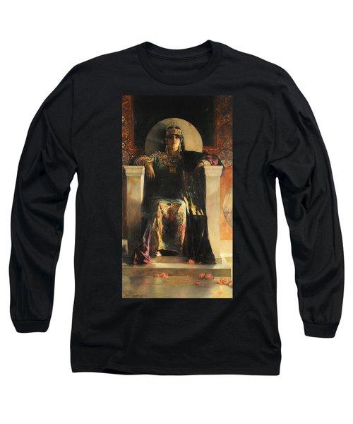 The Empress Theodora Long Sleeve T-Shirt by Jean-Joseph Benjamin-Constant