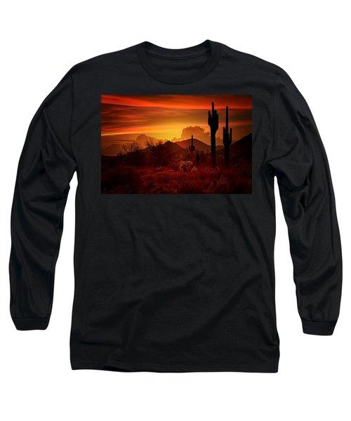 The Essence Of The Southwest Long Sleeve T-Shirt by Saija  Lehtonen