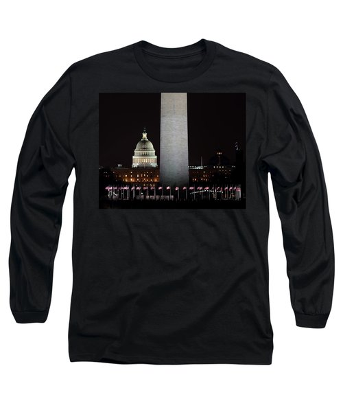 The Essence Of Washington At Night Long Sleeve T-Shirt